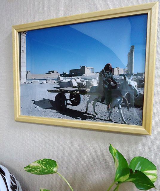 PCに保存されている画像をプリントして、フォトフレームで飾ります