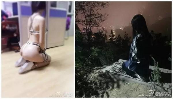 微博にアップされていた写真の数々(台湾のニュースサイト「東森新聞雲」より 以下同)